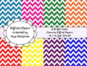 Bright Color Chevron Backgrounds