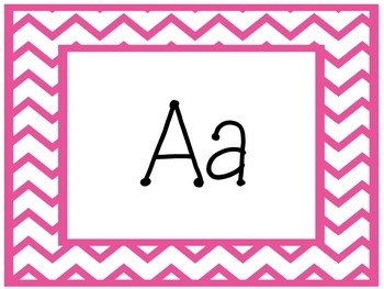 Bright Color Chevron Word Wall Letter Headers