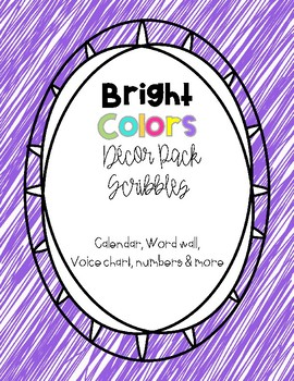 Bright Color Decor Pack - Scribbles