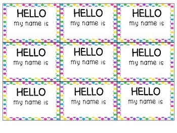 Bright Color Name Tag Inserts