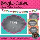Bright Color Place Value Posters