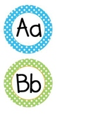Bright Color Polka Dot Word Wall with Fry Words for Kindergarten