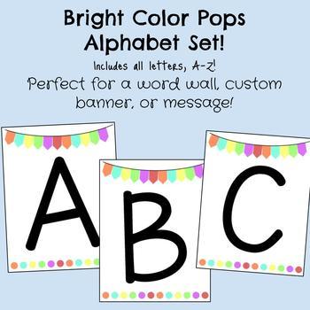 Bright Color Pops Alphabet Set