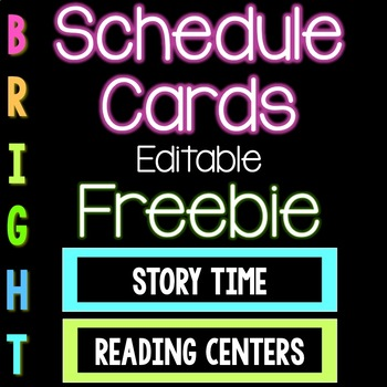 Bright Color Schedule Cards