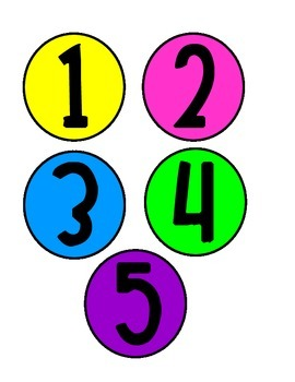 Bright Color Table Numbers