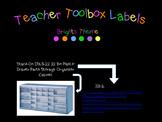 Bright Color Teacher Toolbox Labels