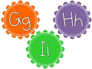 Bright Color Word Wall Headers (Orange, Green, Blue, Pink, Purple, and Yellow)