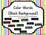 Bright Color Word Cards {Black Background}