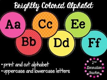 Bright Colored Alphabet