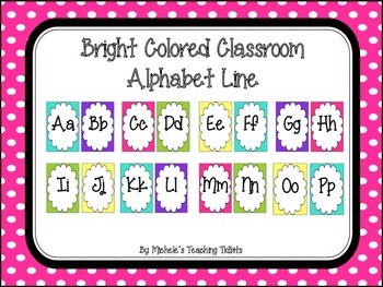 Bright Colored Alphabet Line