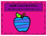 Bright Colored Apple Counting Mats 1-20