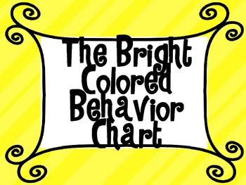 Bright Colored Behavior Chart