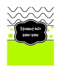 Bright Colored Binder Labels