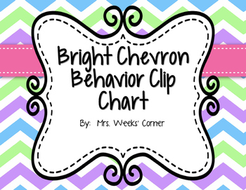 Bright Colored Chevron Behavior Clip Chart