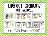 Bright Colored Chevron Literacy Stations