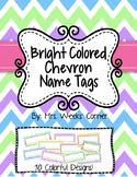 Bright Colored Chevron Name Tags