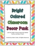 Bright Colored Classroom Decor -Pack 1