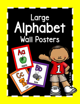 Alphabet Posters Word Wall Bulletin Board Set