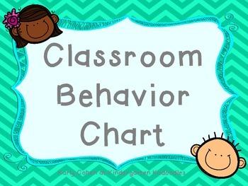 Bright Colored Clip Behavior Chart