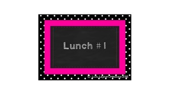 Bright Colored Lunch Count Chart