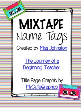 Bright Colored Mixtape Name Tags {assorted colors}