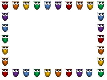 Border - Owls Rainbow by Corinne Orozco   Teachers Pay ...