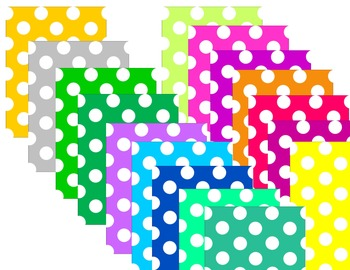 Bright Colored Polka Dot Backgrounds