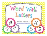Bright Colored Word Wall Letters