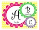 Bright Word Wall Letters: 3 different sizes!