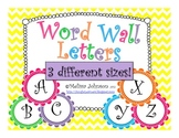 Bright Colored Word Wall Letters (3 different sizes!)