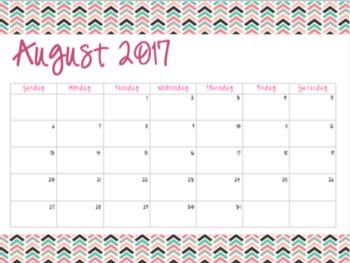 Bright & Colorful Calendars (2017-2018)
