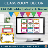 Bright & Colorful Chevron Theme [EDITABLE] Classroom Decor, Labels & ABC  Bundle