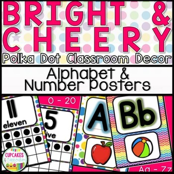 Classroom Decor: Bright and Cheery [Alphabet and Number Posters]
