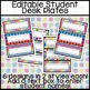 Classroom Decor: Bright and Cheery [Editable Student Desk Plates]