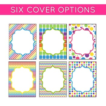 Classroom Decor: Bright and Cheery [Editable Binder Covers and Spines]