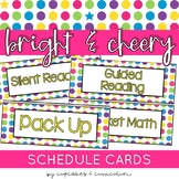 Schedule Cards | Bright and Cheery Classroom Decor