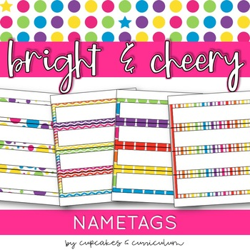 Classroom Decor SAMPLE: Bright & Cheery [Desk Plates/Student Numbers]