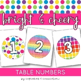 Classroom Decor: Bright and Cheery [Table Number Signs]