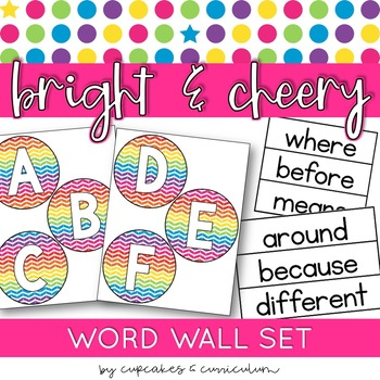 Classroom Decor: Bright and Cheery [Word Wall Letters]