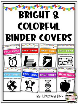 Bright & Colorful EDITABLE Binder Covers
