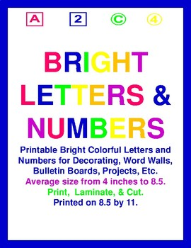Bright Colorful Letters & Numbers Bundle
