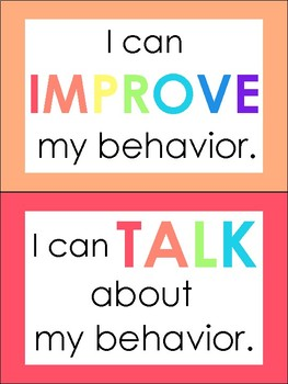 Bright Colorful Positive Behavior Chart