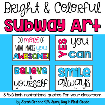 {Bright & Colorful} Subway Art!