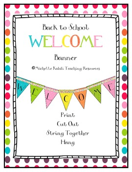 Bright & Colorful Welcome Banner