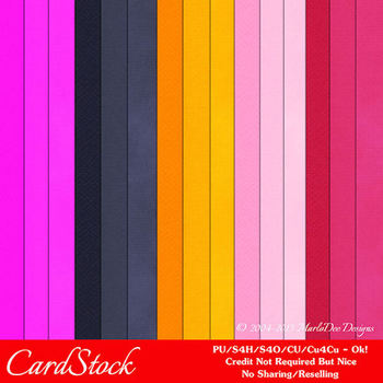 Bright Colors 1 Cardstock Digital Papers A4 size