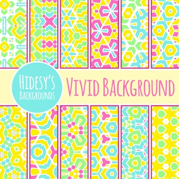 Bright Colors Backgrounds / Digital Papers / Patterns Clip