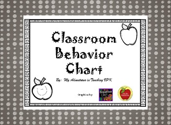 Bright Colors Behavior Chart