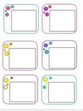 Bright Colors Bubble Pattern for Stationary and Printables