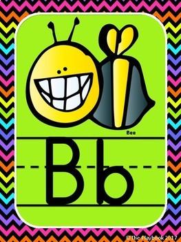 Bright Colors Classroom Decor - Alphabet Posters