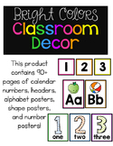 Bright Colors Classroom Decor Pack!